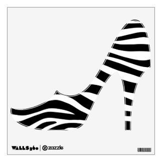 Zebra Stripes High Heels Wall Decal