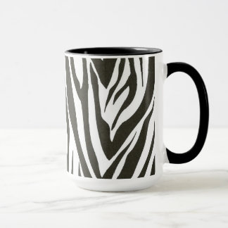 Zebra stripes in black and white mug