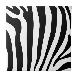 Zebra Stripes in black and white pattern Tile