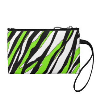 Zebra Stripes Lime Green Coin Purse