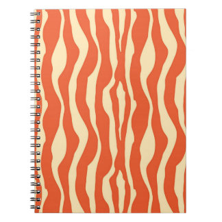 Zebra stripes - Mandarin and light orange Notebook