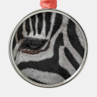 Zebra Stripes Metal Ornament