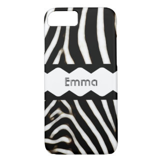 Zebra Stripes Monogram iPhone 8/7 Case