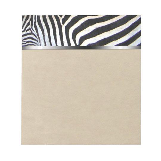 Zebra Stripes Notepad