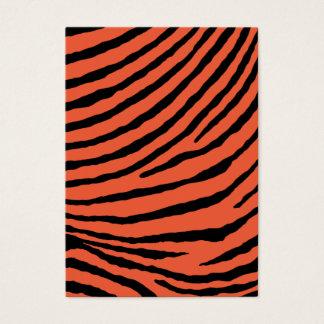 ZEBRA STRIPES: ORANGE and BLACK Business Card