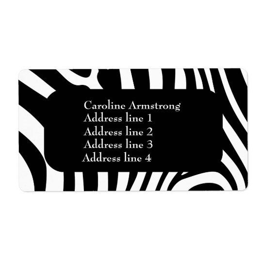 Zebra stripes pattern custom address labels