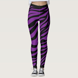 Zebra Stripes Pattern Leggings