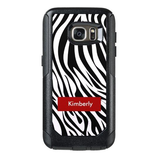 Zebra Stripes Pattern OtterBox Samsung Galaxy S7 Case