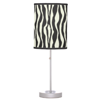 Zebra stripes pattern table lamp