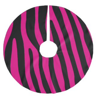 Zebra stripes pattern + your background & ideas brushed polyester tree skirt