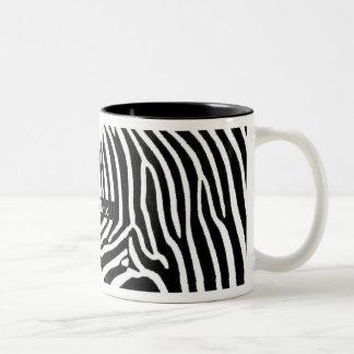 Zebra Stripes Personalized with Name Two-Tone Coffee Mug