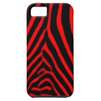Zebra Stripes- Red iPhone 5 Cover