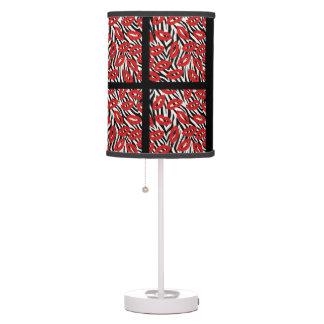 Zebra Stripes Red Lips Table Light Table Lamp