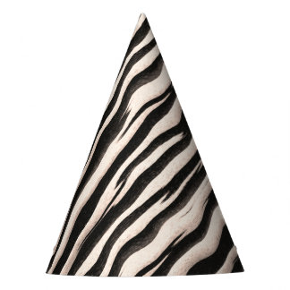 Zebra stripes seamless texture + your ideas party hat