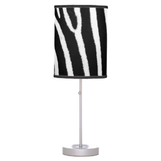 Zebra stripes skin texture table lamp
