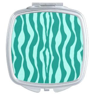 Zebra stripes - Turquoise and Aqua Mirror For Makeup