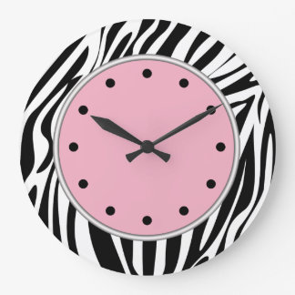 Zebra Stripes Wildlife Clocks