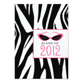 Zebra & Sunglasses 2012 Graduation Invitation