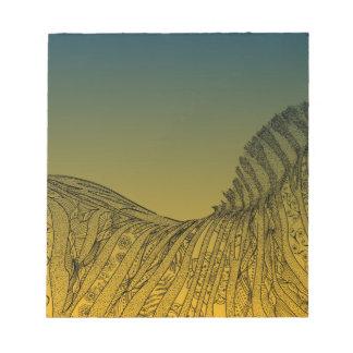 Zebra Sunset Design Notepads