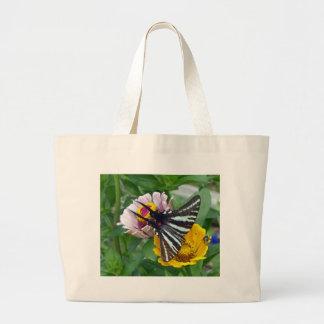 Zebra Swallowtail+Japanese Beetle Large Tote Bag