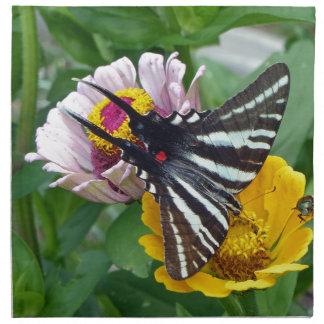 Zebra Swallowtail+Japanese Beetle Napkin