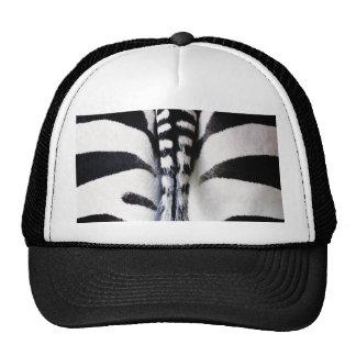 Zebra Tail Black & White Hat/Cap