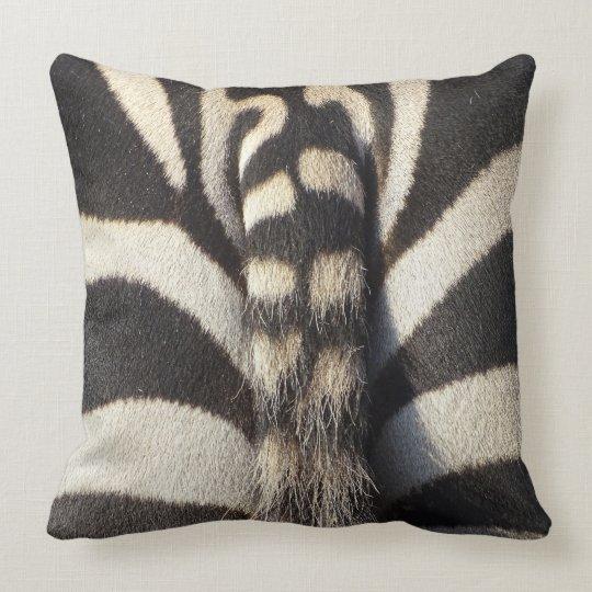 Zebra Tail Throw Pillow