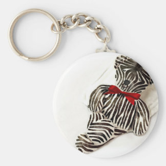 Zebra teddy basic round button keychain