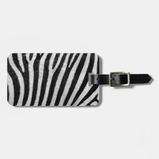 Zebra Textured Luggage Tag