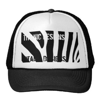 zebra, Titanic Designs, Titanic Designs Trucker Hat