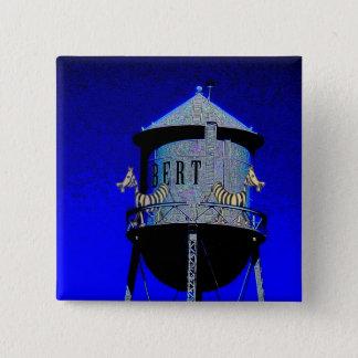 Zebra Tower 2 Inch Square Button