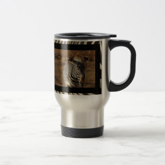 Zebra Travel Coffee Mug
