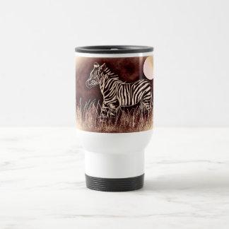 Zebra travel mug