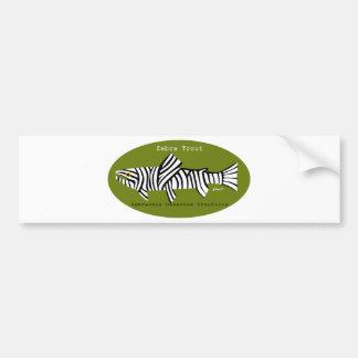 Zebra Trout Bumper Sticker