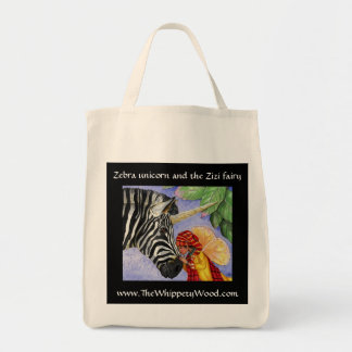 Zebra Unicorn shopping bag