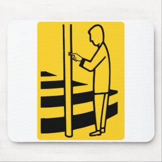 Zebra Walk Crosswalk Sign Walk Europe Dutch Guy Mouse Pad