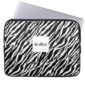 Zebra warrior laptop sleeve