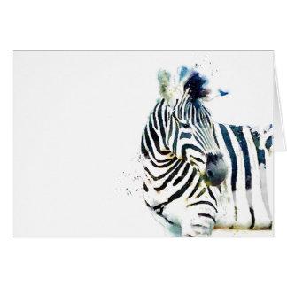 Zebra Watercolor Card