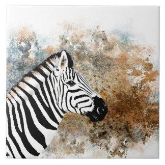 Zebra wild africa animal brown tile