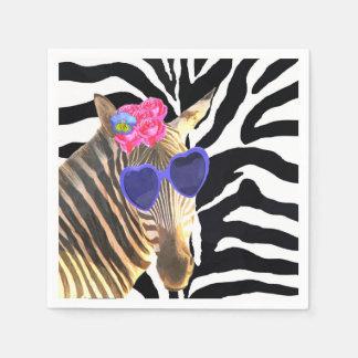 Zebra wild jungle cute animal fashion glamour disposable napkin