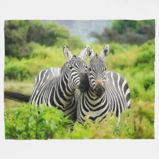 Zebra Wildlife Fleece Blanket