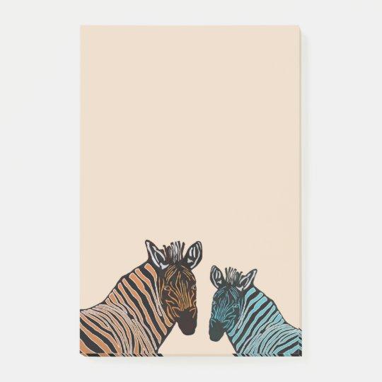 Zebra Wildlife Post-it Notes