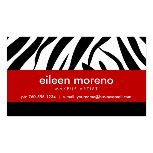 Zebra with Red Business Cards