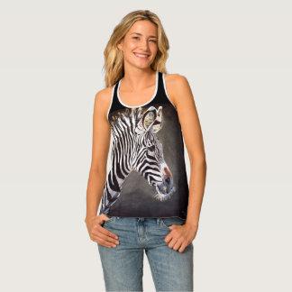 Zebra Women's Racer Back Tank Top