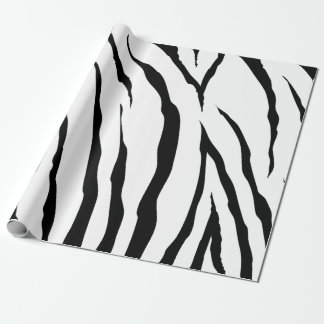"Zebra Wrapping Paper, 30"" x 6'"