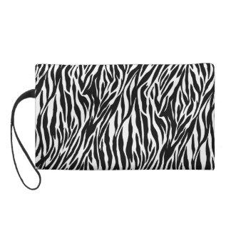 zebra wristlet wallet