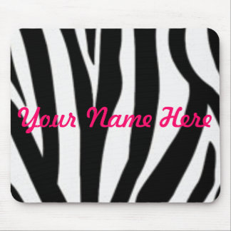 zebra, Your Name Here Mouse Pad