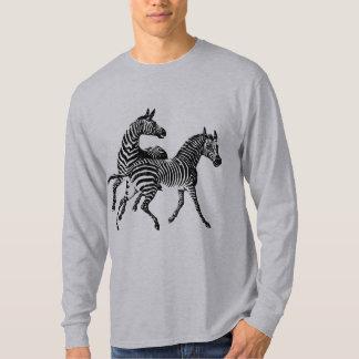 Zebra Zebras Vintage Wood Engraving T-Shirt