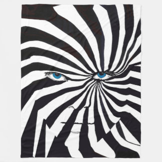 Zebraface  Fleece Blanket