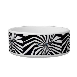 Zebraface pet bowl